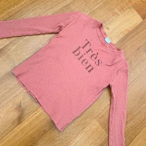 Zara Girls Pink Tee with Letterings size 11/12